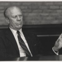 Go to Former President Gerald Ford visits L.V. Eberhard Center item page