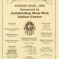 Go to Annual Traditional Pow Wow, August 1991 item page
