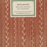 Go to Jahrhundertmitte: deutsche Gedichte der Gegenwart item page