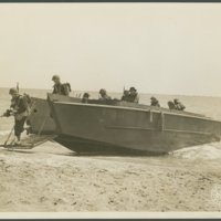 Go to 45th Division personnel beaching from Landing craft item page