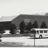 Go to Campus Center. Bus in front of Campus Center item page