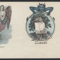 Go to Angel protecting the Union and devil attached to seal of Alabama item page