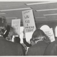 Go to Demonstrators at anti-Vietnam war protest item page