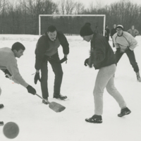 Go to Students playing broomball for Winter Carnival item page