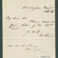 Go to Acknowledgement of receipt of letter to A.B. Perry from Montgomery Blair item page