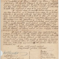 Petition for Clerk of the House of Representatives, September 1, 1847