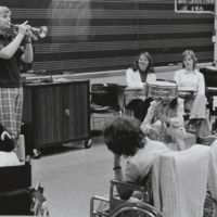 Students in music class