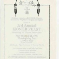 Go to 3rd Annual HONOR Feast, November 1991 item page
