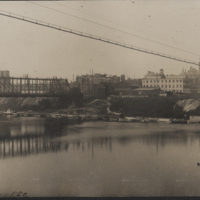 Go to Indiana. View of Lafayette from the river item page