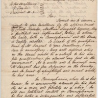 Petition to President Z. Taylor for U.S. Auditor position, April 11, 1849
