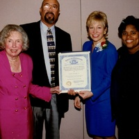 Go to Michigan Nonprofit Association Leonore Romney, Harry Bonner Sr., and Michelle Engler certificate item page