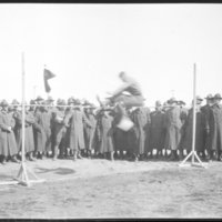 Go to Soldiers watching high jump at Camp Custer, Michigan item page