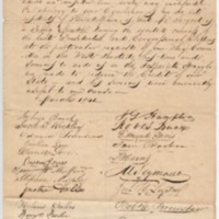 Petition to President Harrison for the Naval Officer for the Port of Philadelphia, March 1841