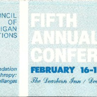 Go to Council of Michigan Foundations 1977 annual conference preliminary program item page