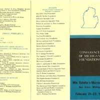 Council of Michigan Foundations 1974 annual conference program