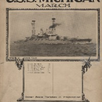 Go to U.S.S. Michigan March sheet music by J.R. Shannon item page