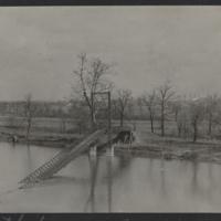 Go to Indiana. Fallen suspension foot bridge item page