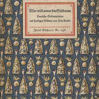 Go to Wer will unter die Soldaten: deutsche Soldatenlieder mit farbigen Bildern item page