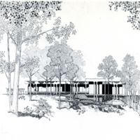 Seidman House. Architect's drawing of exterior