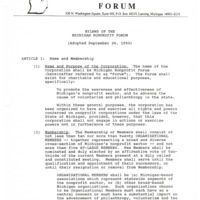 Go to Michigan Nonprofit Forum 1990-09-26 steering committee Bylaws item page