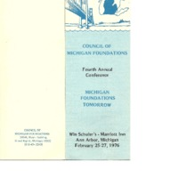 Go to Council of Michigan Foundations 1976 annual conference program item page