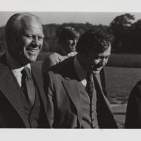 Go to  Former President Gerald Ford touring campus with Grand Valley's president Arend D. Lubbers item page