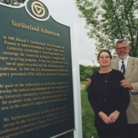 Go to Ronald VanSteeland and wife at the VanSteeland Arboretum dedication item page