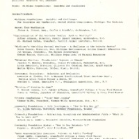 Go to Council of Michigan Foundations 1977 annual conference speakers item page