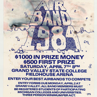 First annual statewide Michigan collegiate airband competition, April 7, 1984