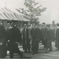 Go to Professors arriving at Commencement item page