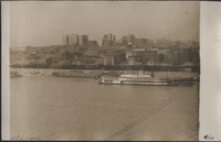Missouri. Steamboats on the Mississippi