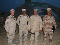 Oakes' superiors and Iraqi commanding general with assistant